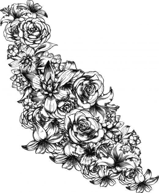 Bouquet de fleur gratuit tr s difficile colorier mandala pinterest bouquet de fleurs - Coloriage bouquet de fleurs ...