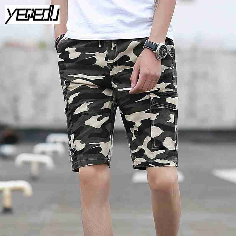 eb36af5415 Click to Buy << #3725 Summer 2017 Army Casual short hombre Camouflage shorts  mens Military cargo shorts Beach Elastic waist Boardshorts homme #Affiliate