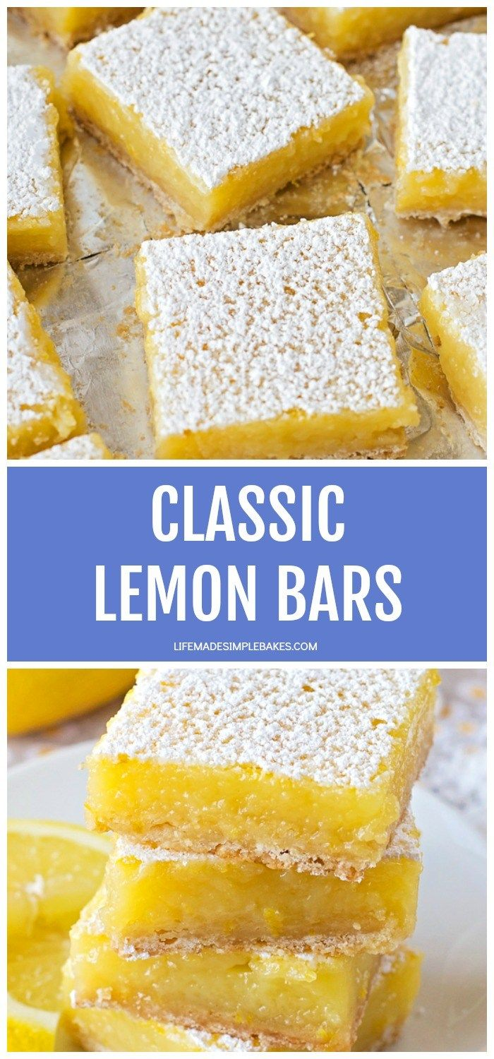 These classic lemon bars are tangy and sweet! They're extra refreshing and perfect for anytime of y