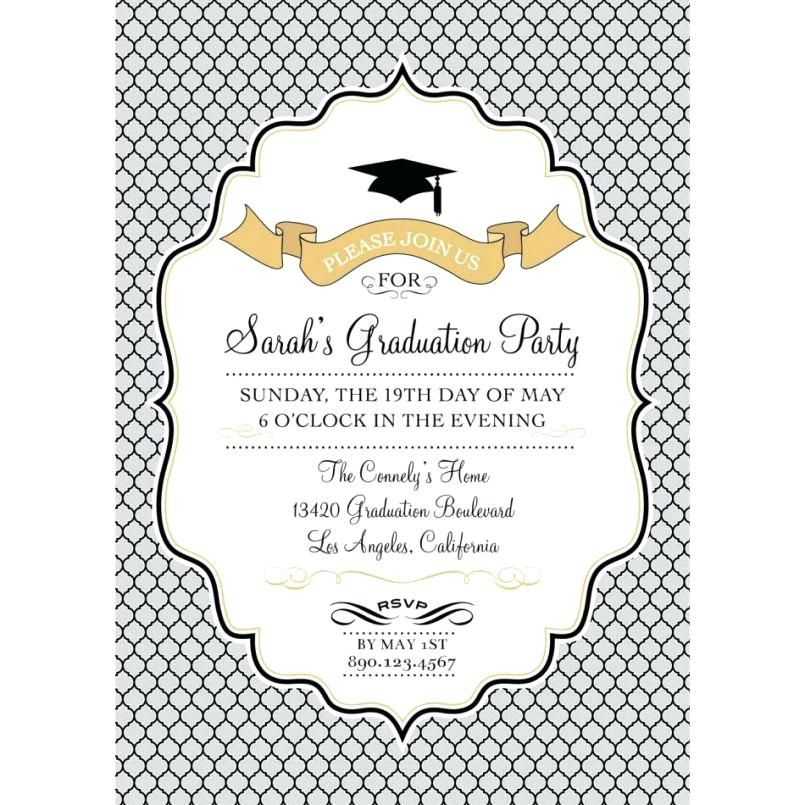 Invitation Template Word Amazing Free Graduation Party Invitation Templates For Word Large Size Of .
