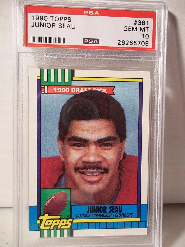 1990 topps junior seau rookie psa gem mint 10 football