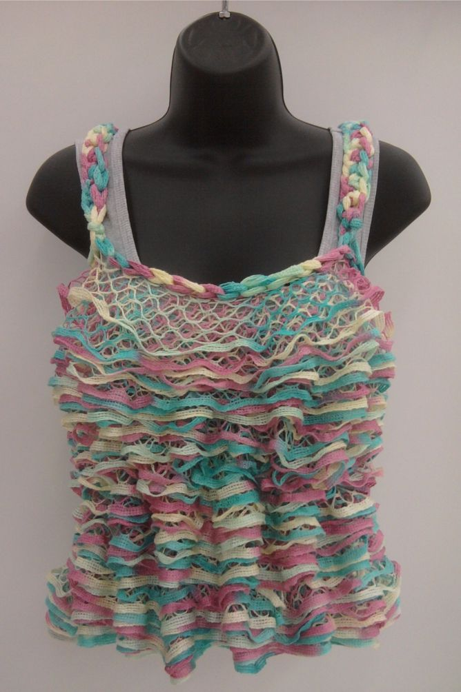 Starbella knitted tank top that I designed! | Croch-knitt-sew-wave ...