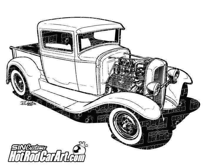 1932 custom ford pickup truck