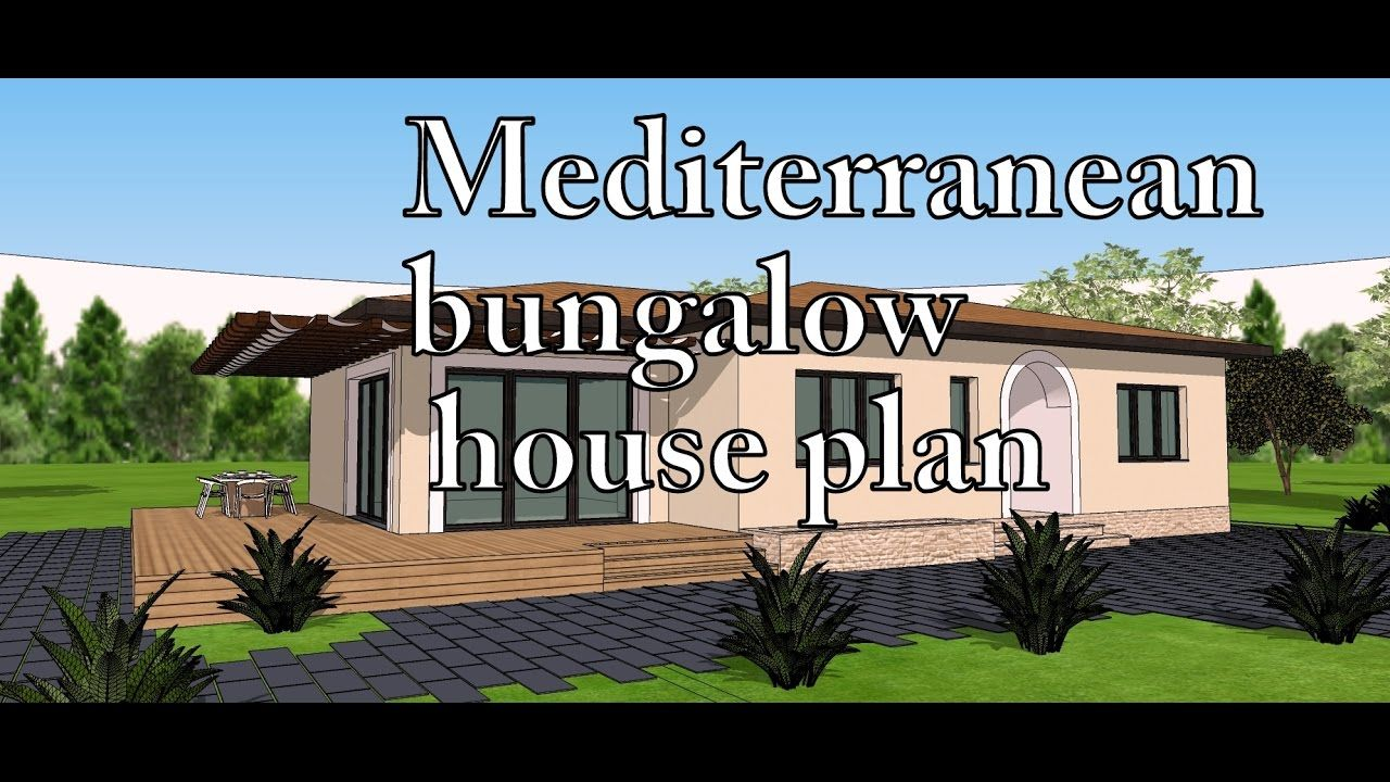 Mediterranean Bungalow House A33 For Sale At 49 Euro Dwg Autocad