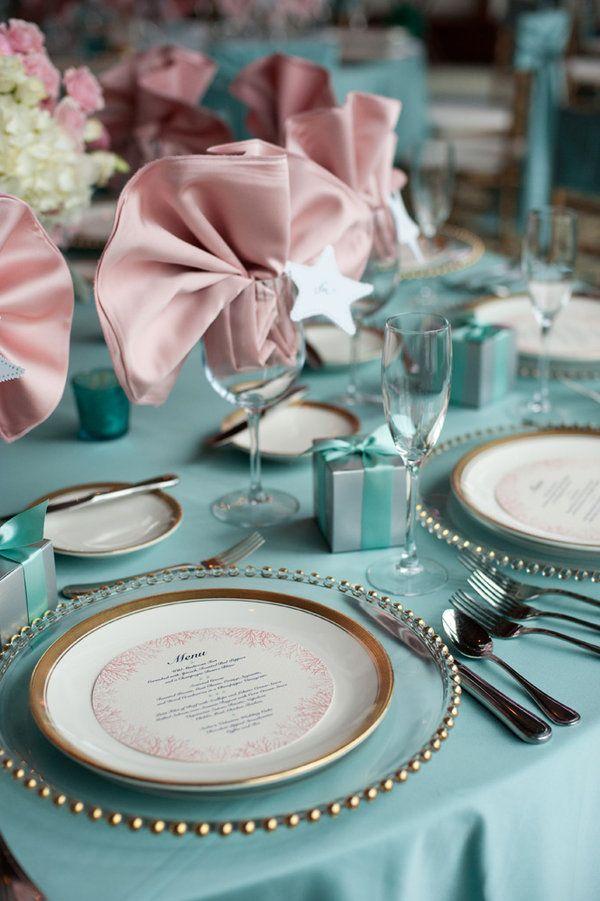 Wychmere Beach Club Wedding By Ned Jackson Photography Kelli Ronci Tiffany Blue Wedding Wedding Reception Tablescapes Wedding Colors Blue