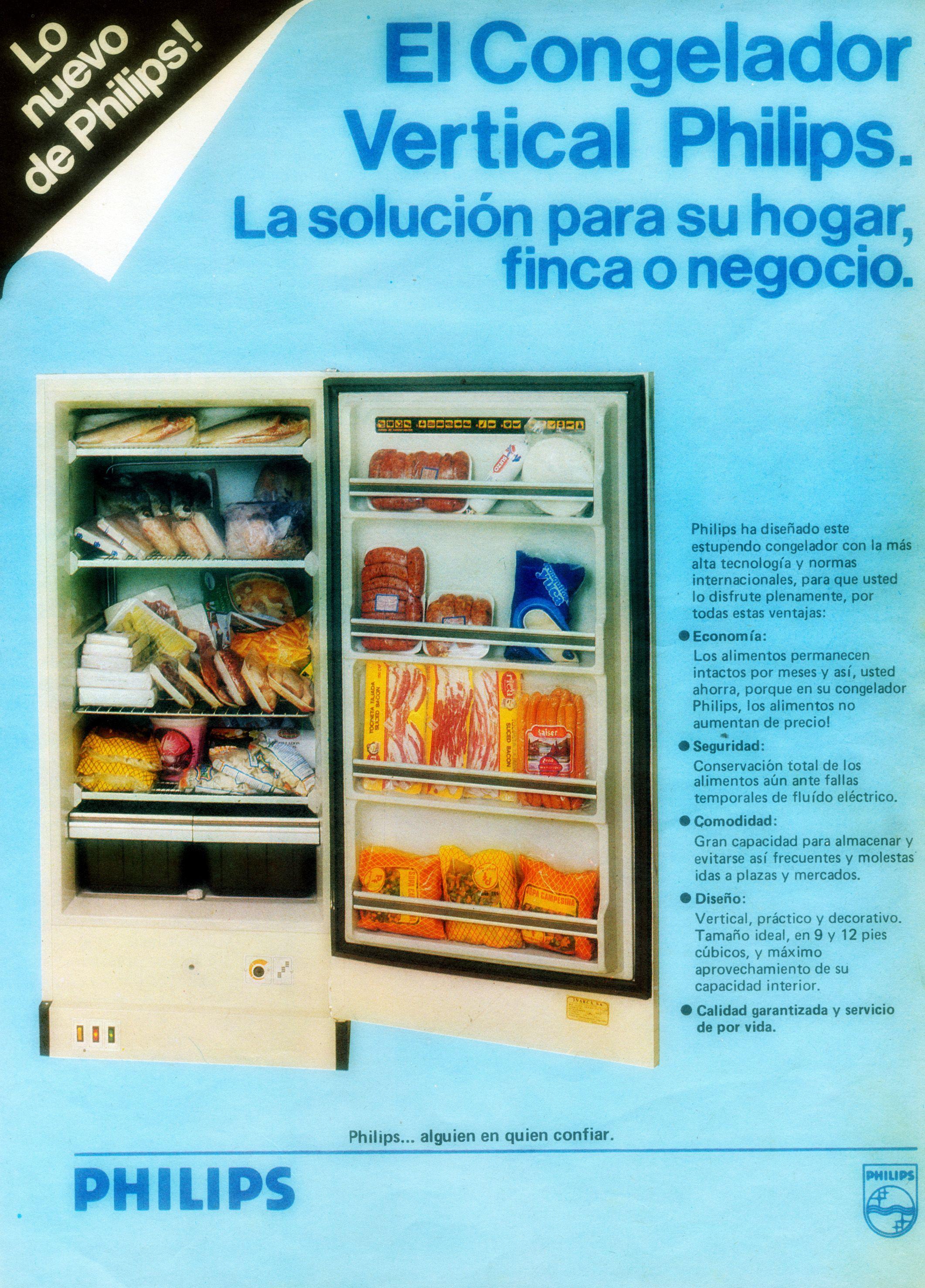 Congelador Philips 80s Anuncios Antiguos Anuncios