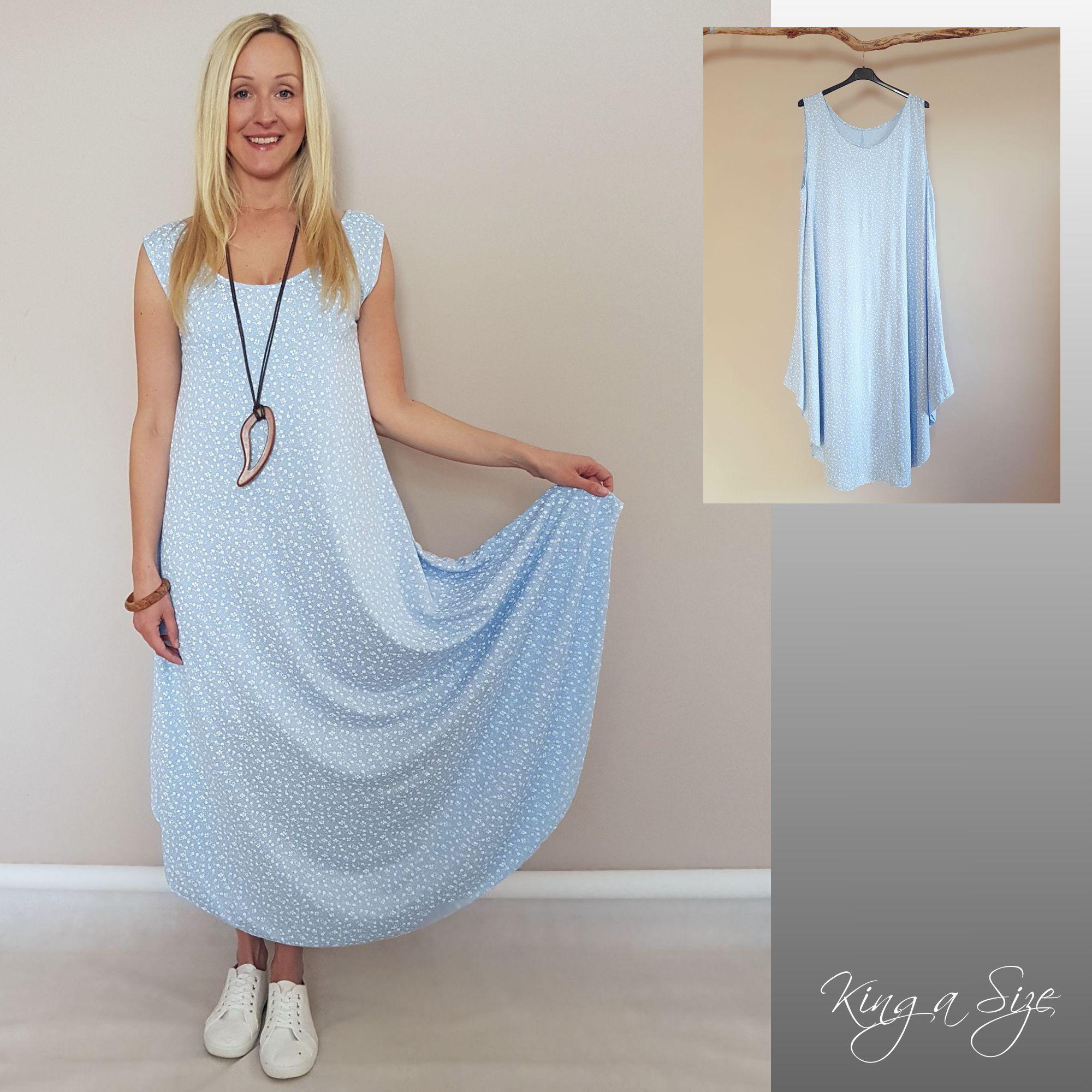 lange kleid hellblau | lagenlook, strandkleid lang, maxi
