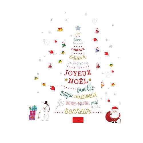 French Quote Christmas Tree and Santa Christmas Wall Sticker The Seasonal Aisle