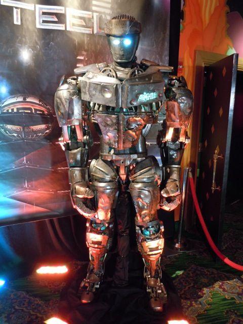 Real Steels Animatronic Robot Atom On Display