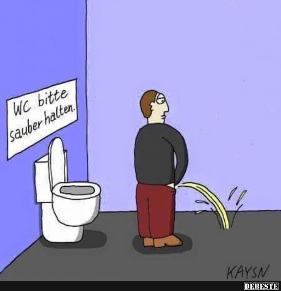 Wc Bitte Sauber Halten Lustige Bilder Sprüche Witze