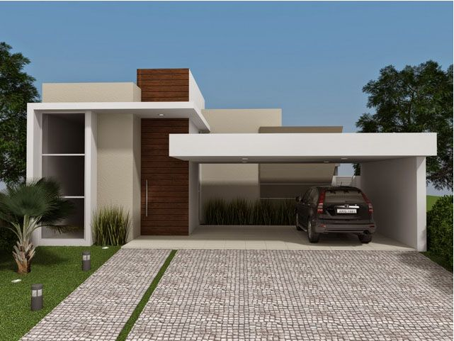 Casa pequena com garagem para 2 carros fachada fachadas for Renovar fachada de casa