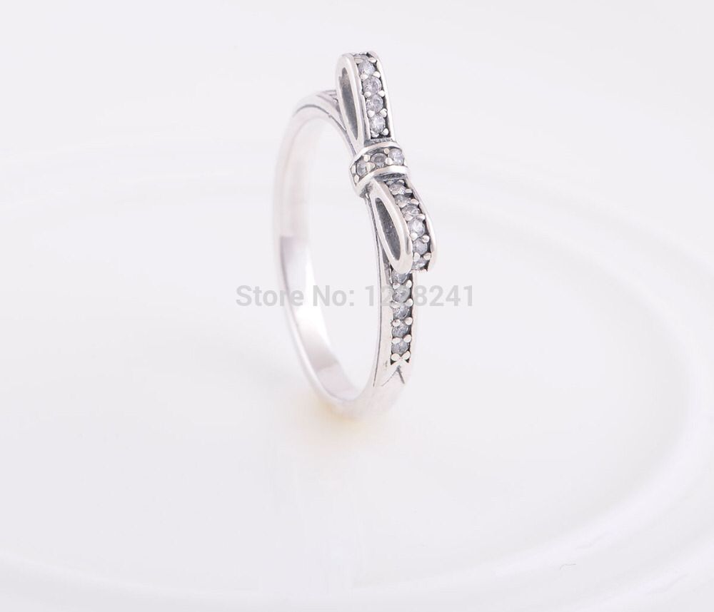 cute prev bow wedding products silver adjustable sterling knot rings