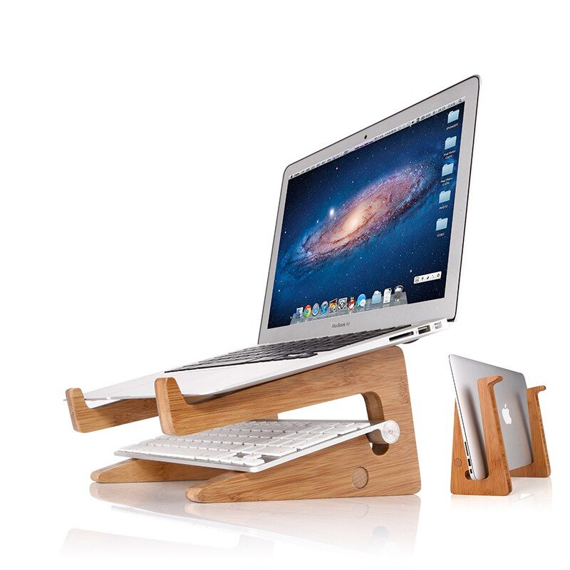 Wooden Laptop Stands Notebook Holder For Macbook Air 11 13 15 Desk Holder Laptop Stand Notebook Holderwood Laptop Stand Aliexpress In 2020 Wooden Laptop Stand Laptop Stand Laptop Desk