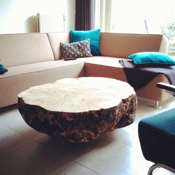 esdoorn boomstam salontafel mogen leveren in een prachtig strak interieur een