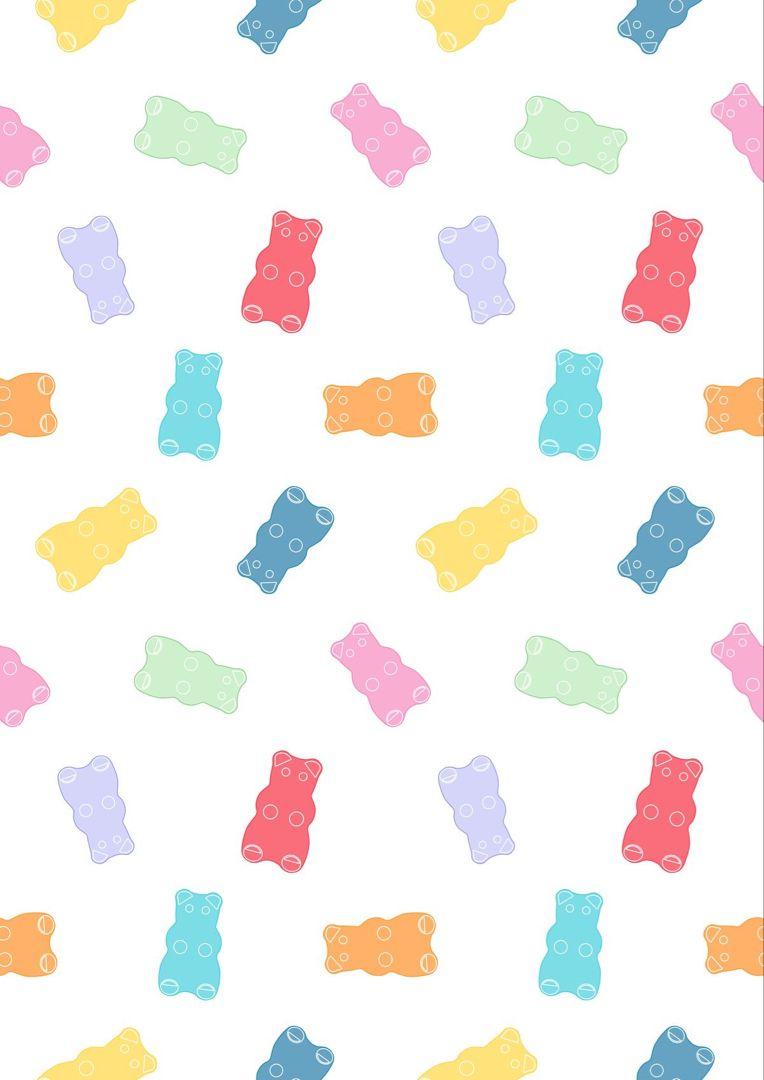 Gummy Bear Digital Wallpaper 😍 | Graphic Design | Digital Candy Art