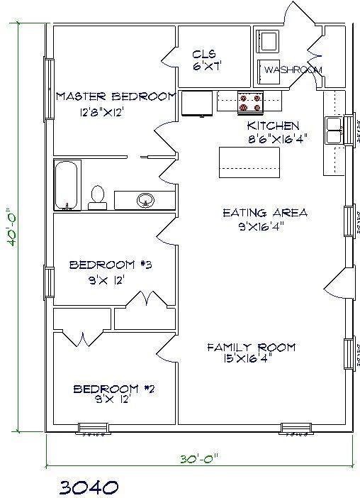 Barndominium Floor Plans Benefit Cost Price And Design Barndominium Floor Plans House Plans One Story 30x40 House Plans