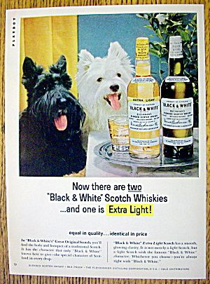 1965 Black And White Whiskey W Black White Scotties Image1 Black And White Dog Scottie Dog Whisky