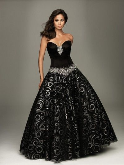 Платье с корсетом – женственно и изящно   Черные бальные ...