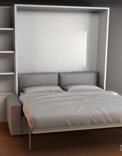 Best Murphysofa Adagio Queen Luxury Sectional Sofa Wall Bed 640 x 480