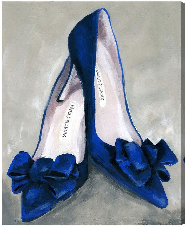 Oliver gal blue mondays canvas art by the artist co