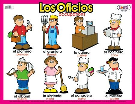 Oficios Y Profesiones Preschool Projects Spanish Words Worksheets For Kids