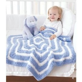 Mary Maxim - Free Star Baby Blanket Crochet Pattern - Free Patterns - Patterns & Books