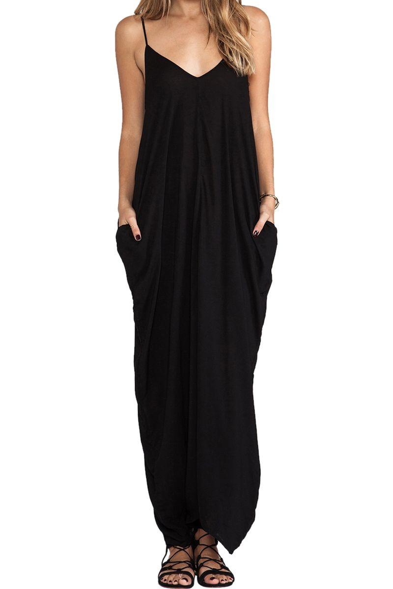Spaghetti Strap Loose Fitting Maxi Dress Fashion Maxi Dress Fitted Maxi Dress [ 1200 x 800 Pixel ]