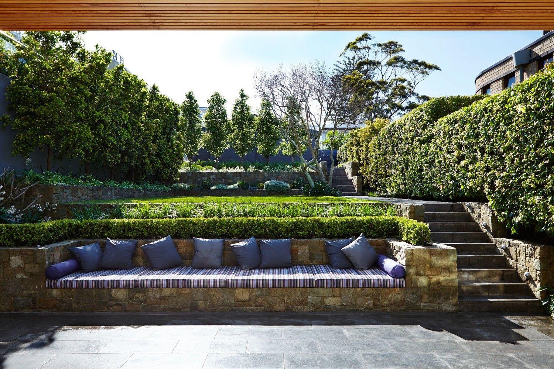 Pin by Julie Wiser on Tiered Backyard | Terraced backyard ... on Tiered Yard Ideas  id=44625