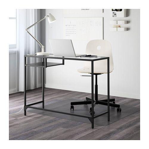VITTSJÖ Laptoptafel, Zwartbruin, Glas