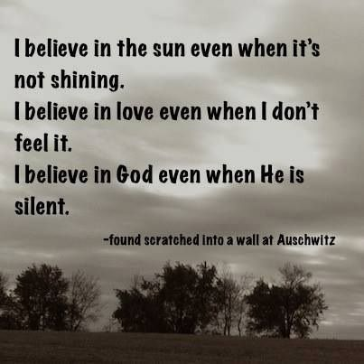 A Powerful Message Scratched Into The Walls Of Auschwitz