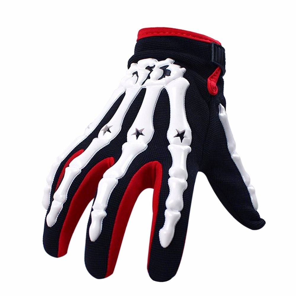 Youth Motocross Gloves Motorcycle BMX MX ATV Dirt Bike Bicycle Skeleton Cycling Kids Gloves Orange