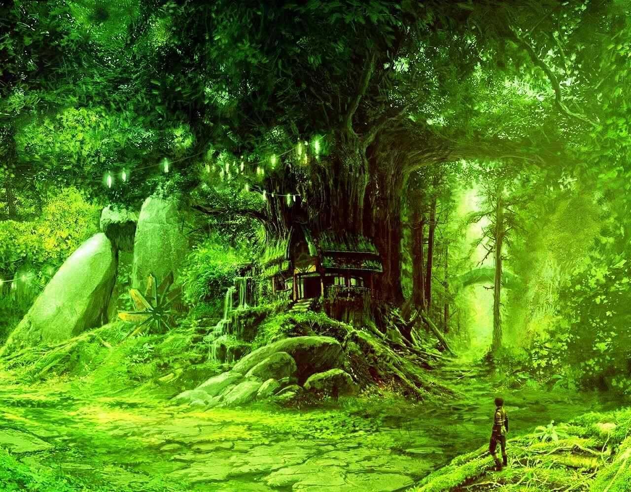 タグ 樹海 てふてふのイラスト 森 イラスト 風景 風景の絵