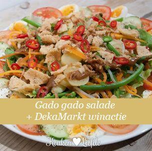 Gado gado salade + DekaMarkt winactie Thomas-messenset - Keuken♥Liefde