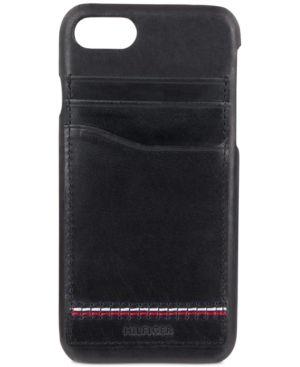 hot sale online c4f53 e143b Tommy Hilfiger Men's Leather iPhone 7 Case - Black | Products ...