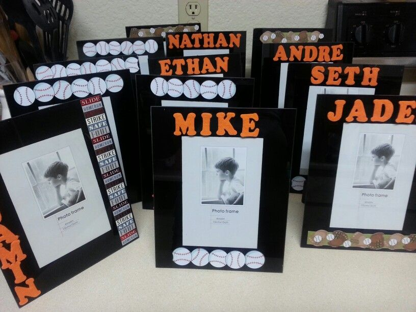 DIY T-ball/Coach Pitch Picture frame. End of season Team Gift ...