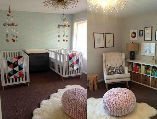 Una habitaci n para dos ni as dos ni as gemelo y beb for Habitaciones infantiles unisex