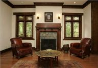 Front Room, no fireplace but a piano instead - craftsman home decor - Google Search