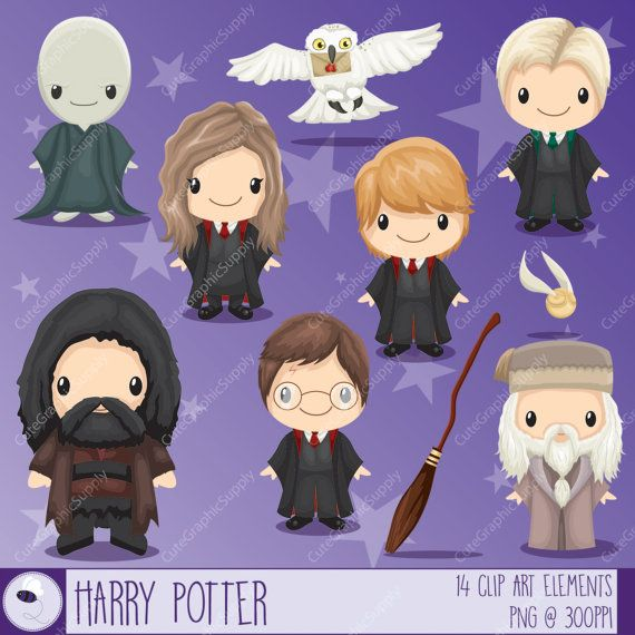 Https Www Etsy Com Listing 260504991 Wizard Inspired Clipart Magician Clipart Harry Potter Clip Art Harry Potter Classroom Harry Potter Crafts