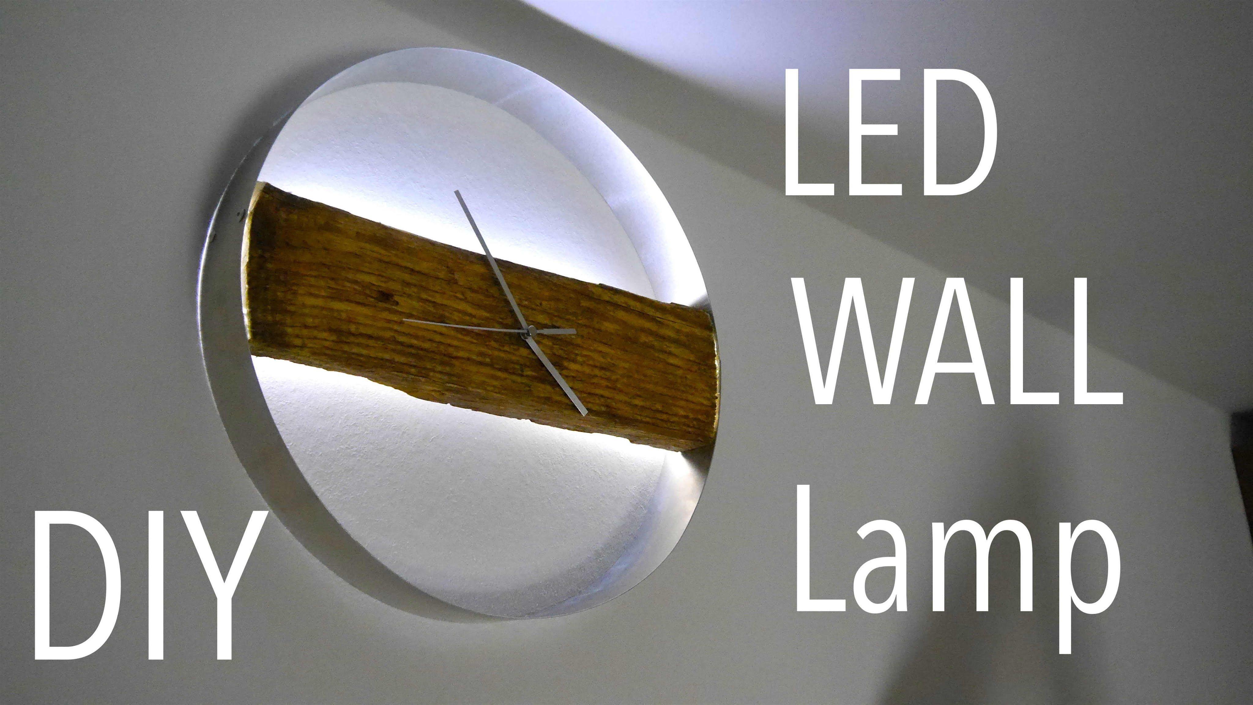 diy wood clock led wand uhr tutorial anleitung k chen ideen pinterest uhren wanduhren. Black Bedroom Furniture Sets. Home Design Ideas