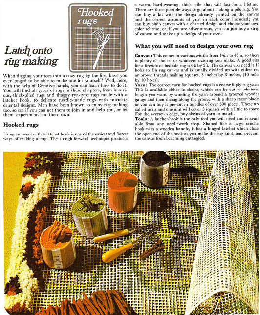 Latch Hook Rug Making The Technique For Cutting Your Own Yarn How To Hatch