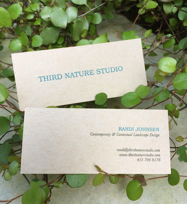 Third Nature Studio business cards. Design by Leah Elamin & Randi ...