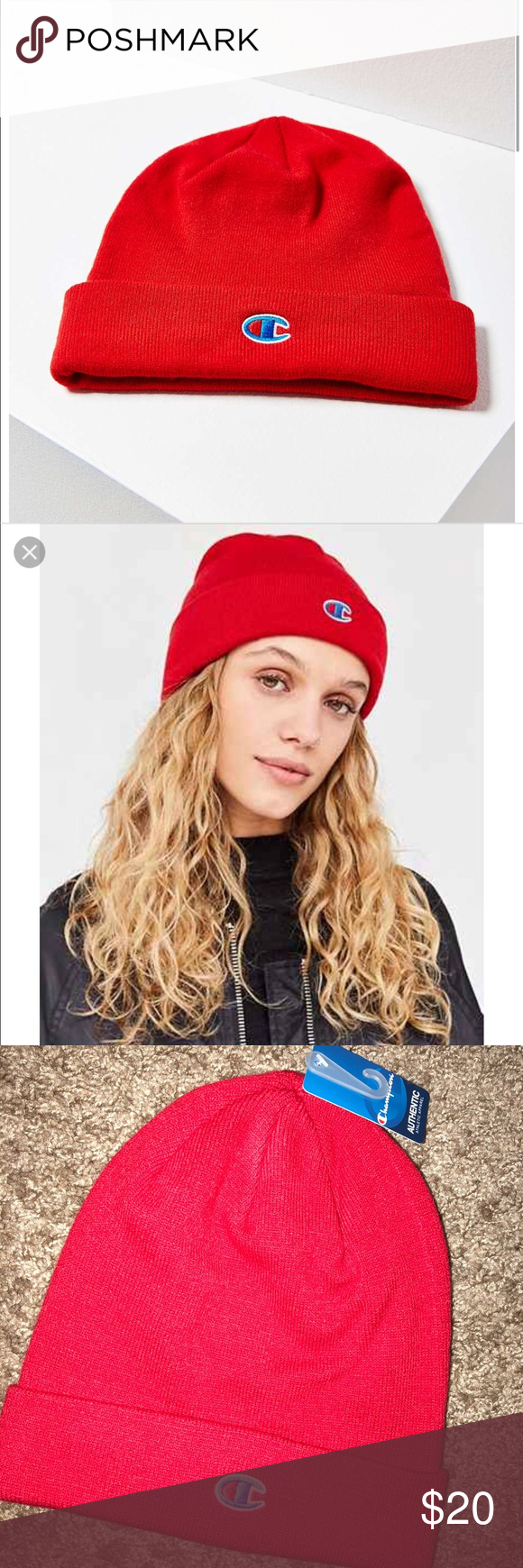 51d64c0286112 NWT Urban Outfitters x Champion beanie New with tags