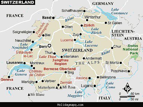 Switzerland Map Tourist Attractions Tourist Map Tourist