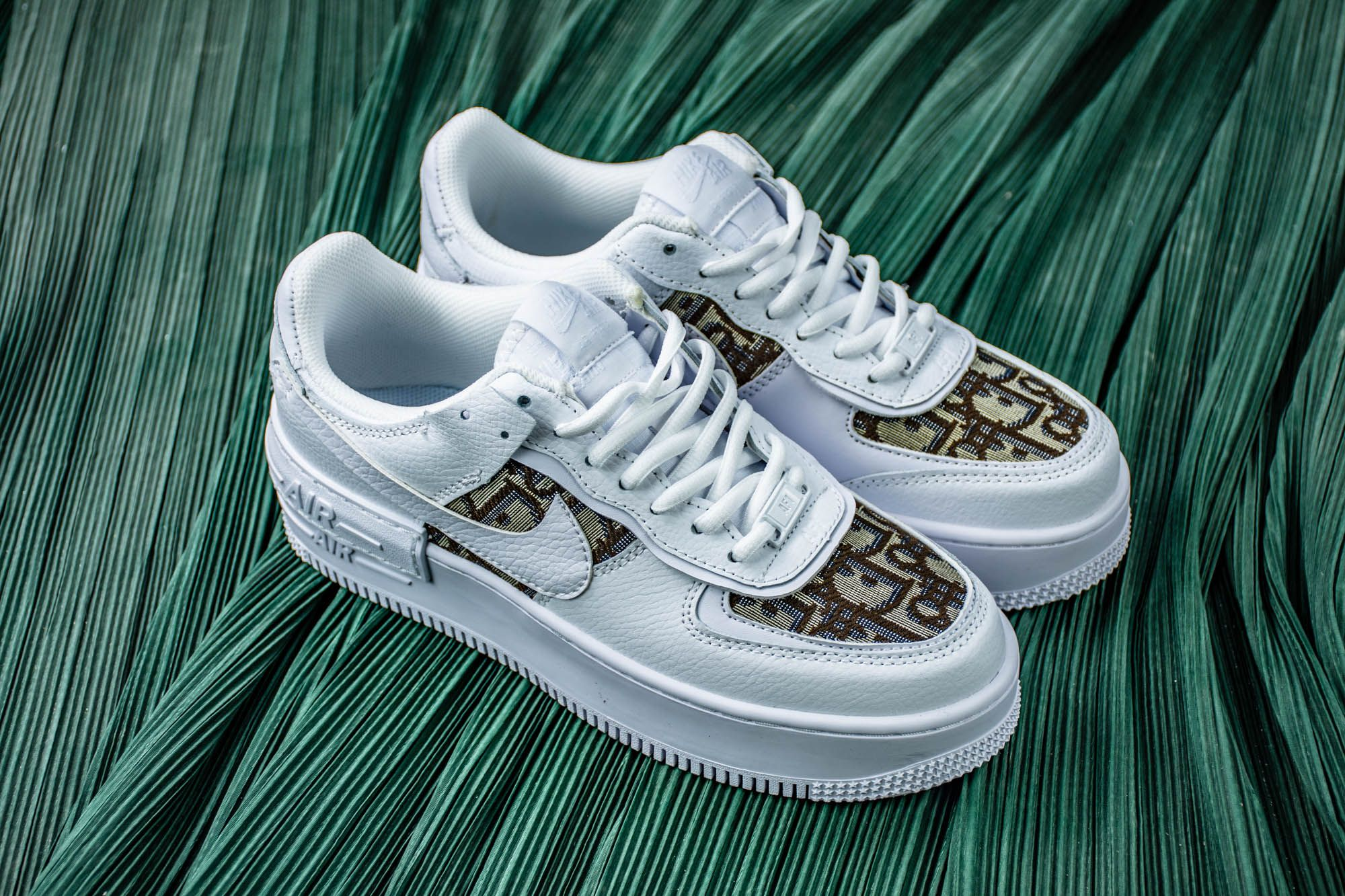 Custom Nike Air Force 1 Dior Shadow Double Layering in