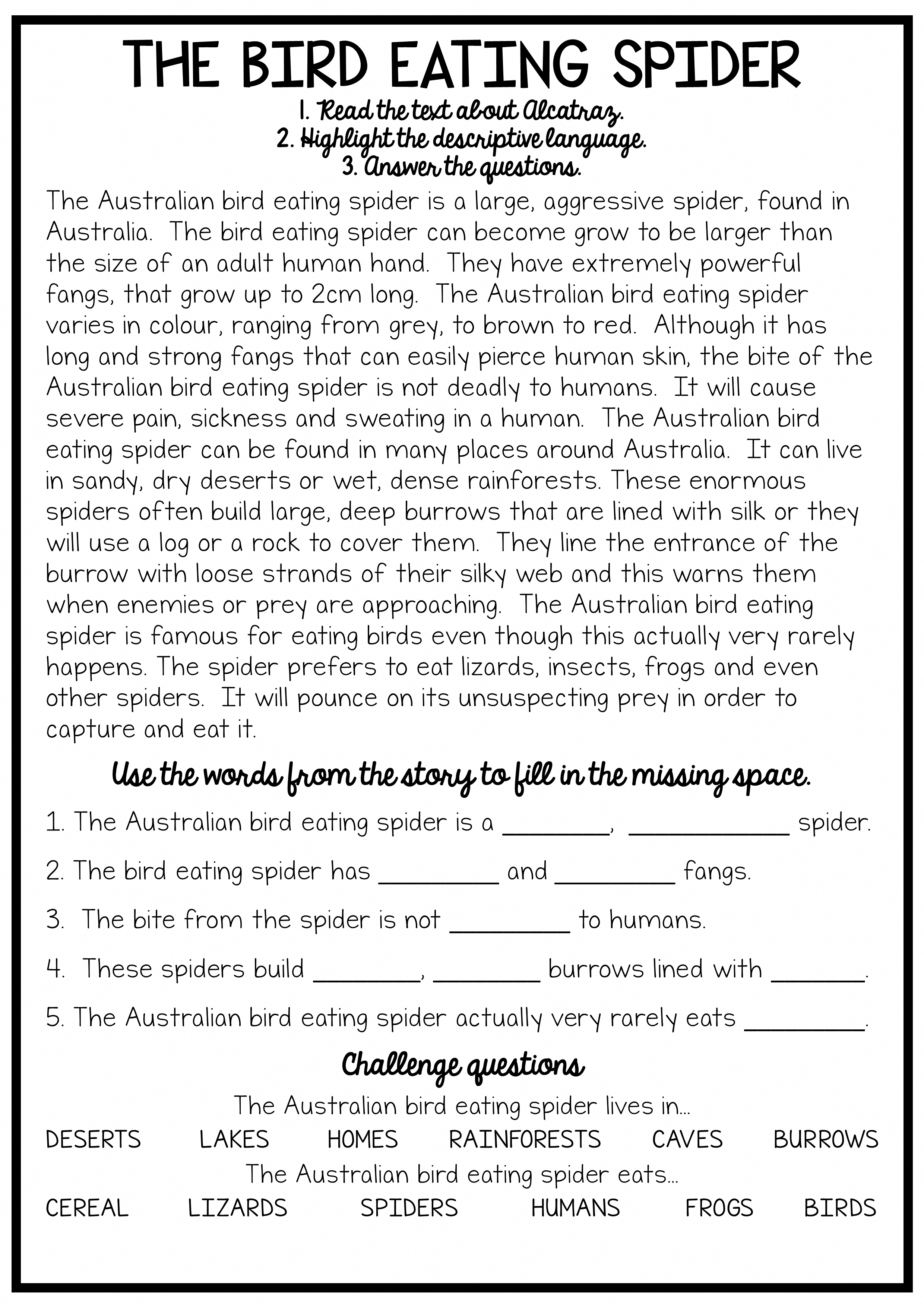 - Reading And Grammar Pack - No Prep Printables (With Images