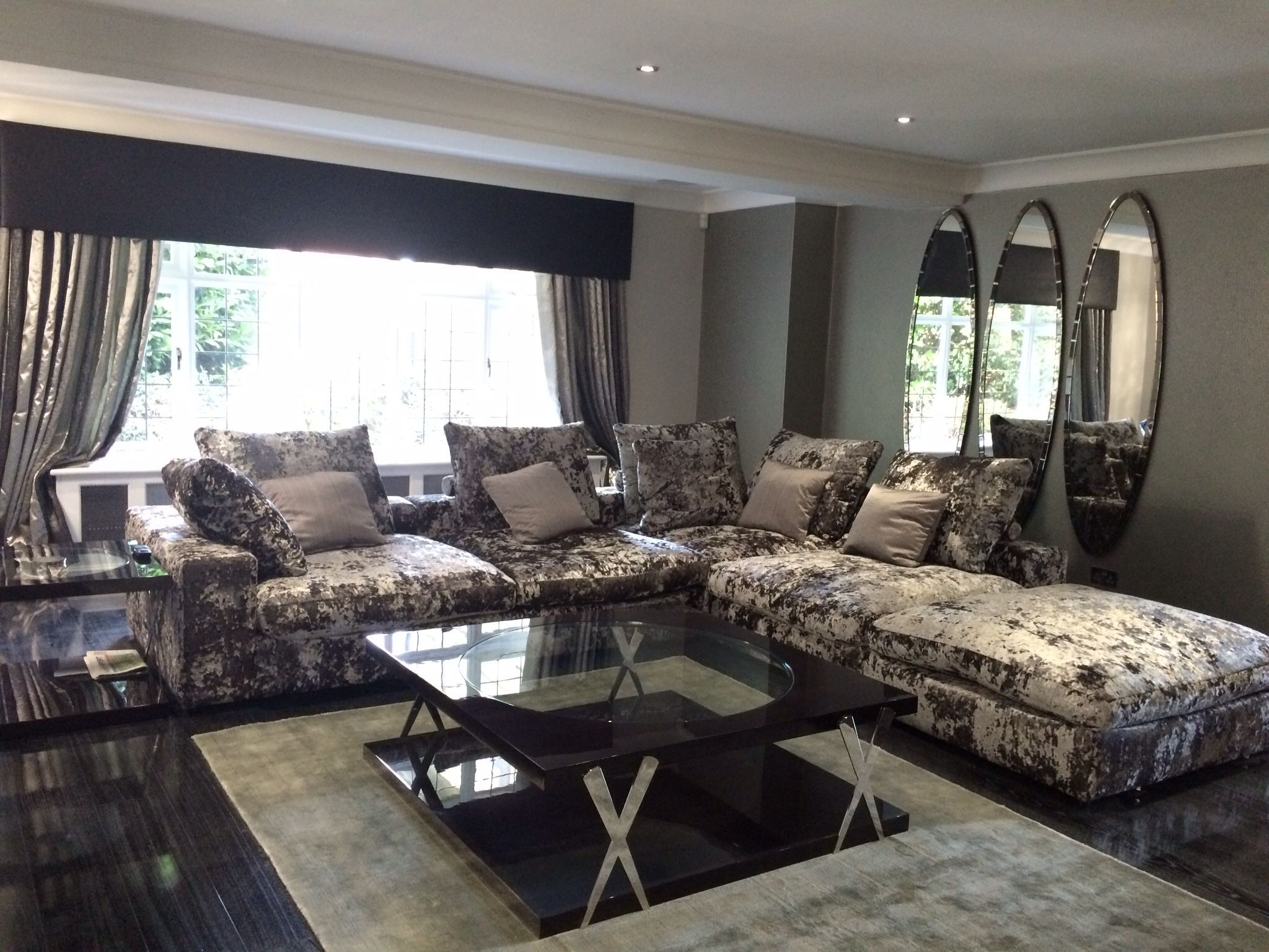 Finished TV Room At Herrongate Job Sofa And Chair Coffee And Side Table RV  Astley Mirrors
