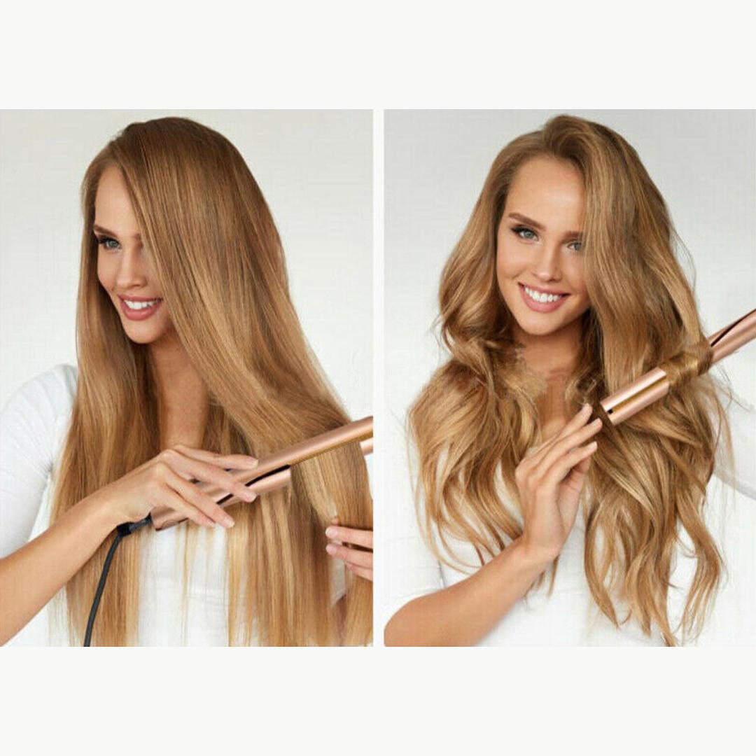 Simplee Straight Curl 2 In 1 Simplee Beautee 5495 Hair Straightener And Curler Hair Curlers Straightening Curly Hair