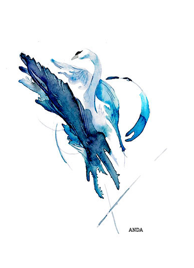 Abstract Swan Artwork
