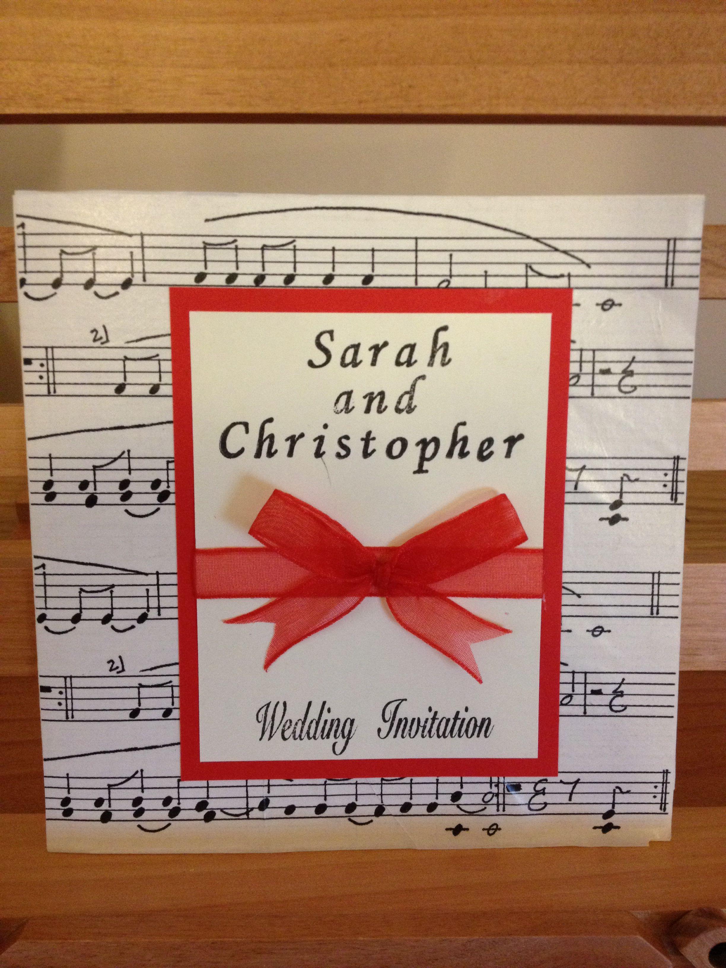 Amazing Wedding Invitation Music Theme Composition - Invitations and ...