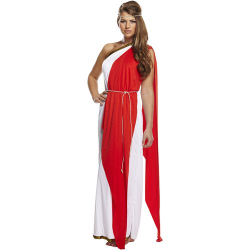 Ladies Red Roman Red Lady Fancy Dress Costume Vestidos Fantasias Gregas Roupas Tematicas